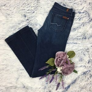 7 For All Mankind Dark Wash Bootcut Jeans 26x29